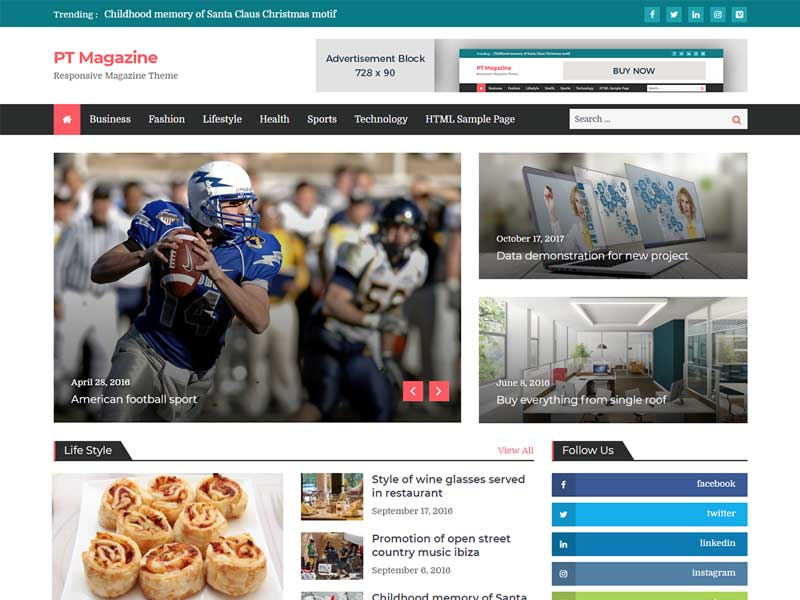 Best free wordpress magazine theme
