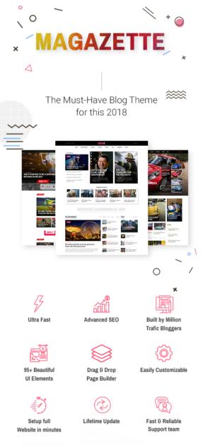 Best Magazine WordPress Theme magazette - magazine & blog wordpress theme (news / editorial) Magazette – Magazine & Blog WordPress Theme (News / Editorial) 1 The must have Blog mgz