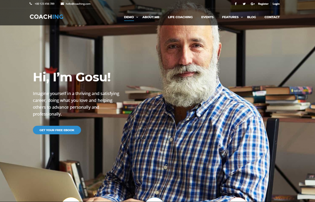 coaching wordpress themes for teachers and instructors