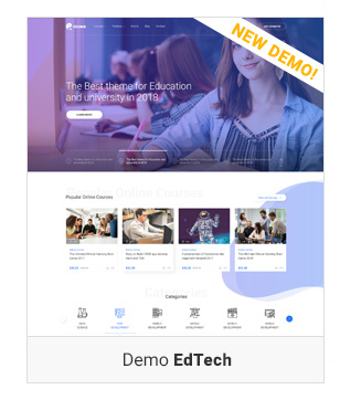 Education WordPress theme - Demo EdTech