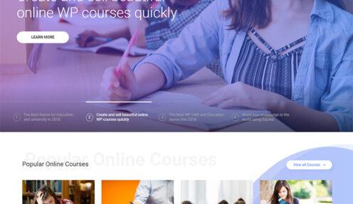 Edtech – Education Online Course Startup WordPress Theme