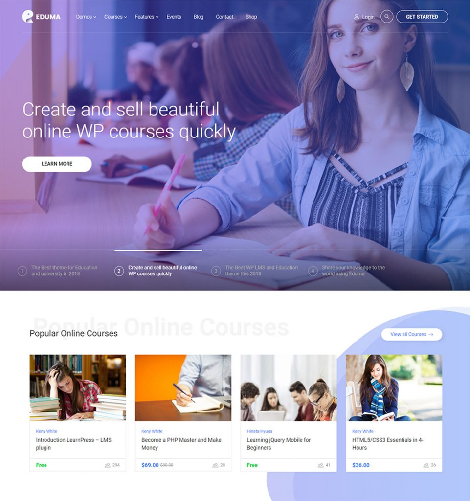 Edtech – Education Online Course Startup WordPress Theme