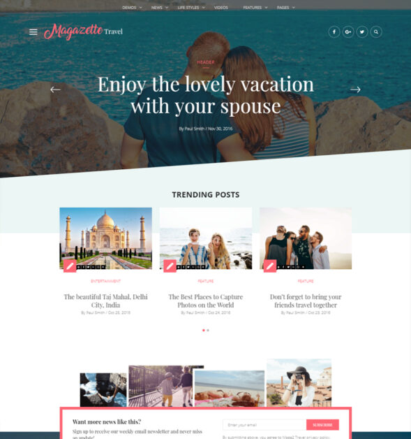 Blog & Magazine WordPress Theme | Magazette Magazine