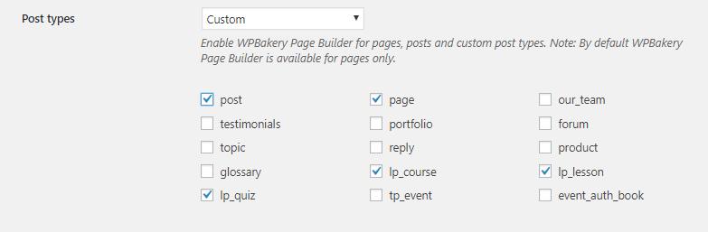 Post types - Eduma's course