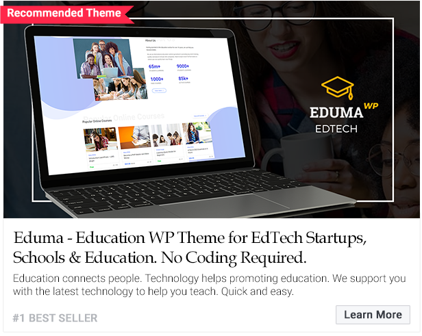 Highly recommended education lms WordPress theme