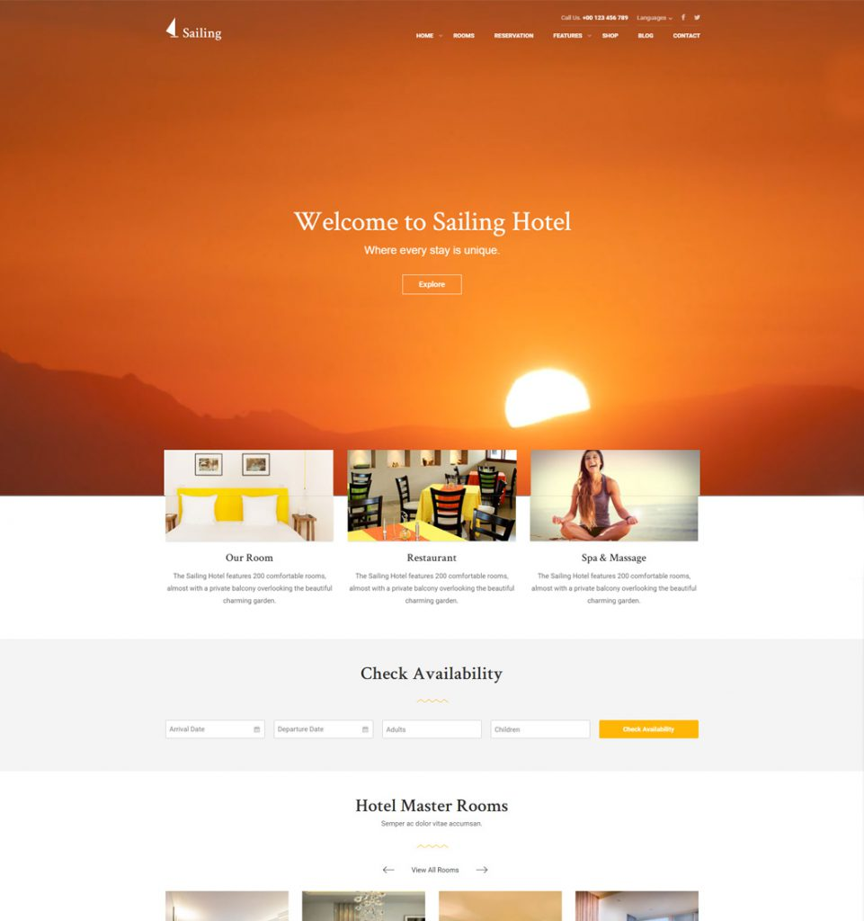 Urban Guesthouse  – Hotel Resort Booking WordPress Theme