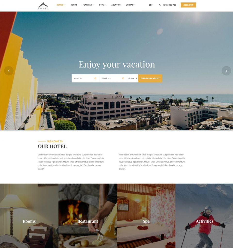 Vacation WP – Hotel Booking WordPress Theme