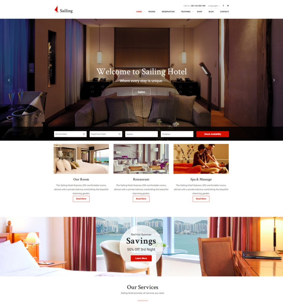 Vegas Hotel  – Hotel Resort Booking WordPress Theme