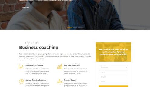 Business Coach – Business Speaker and Coaching WordPress theme