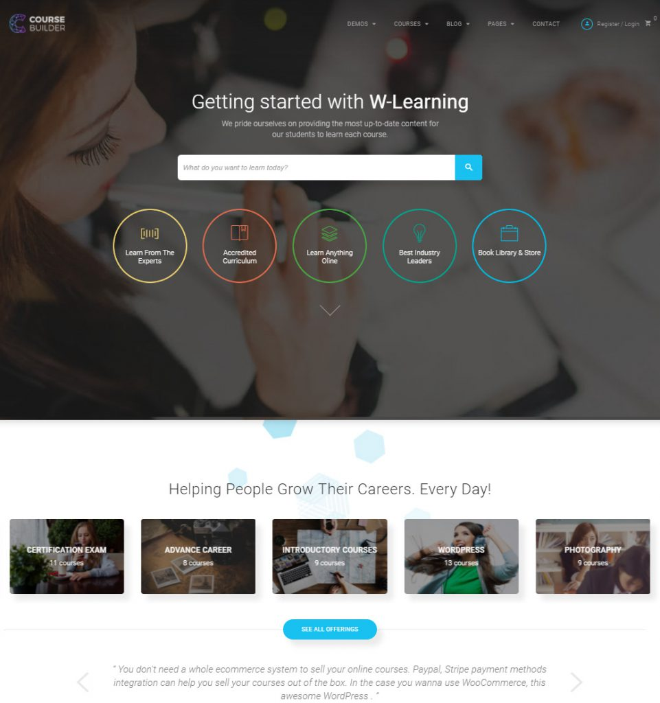 Coursify – WordPress Theme for Online Education & School