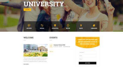 Modern University – Education School University College WordPress Theme
