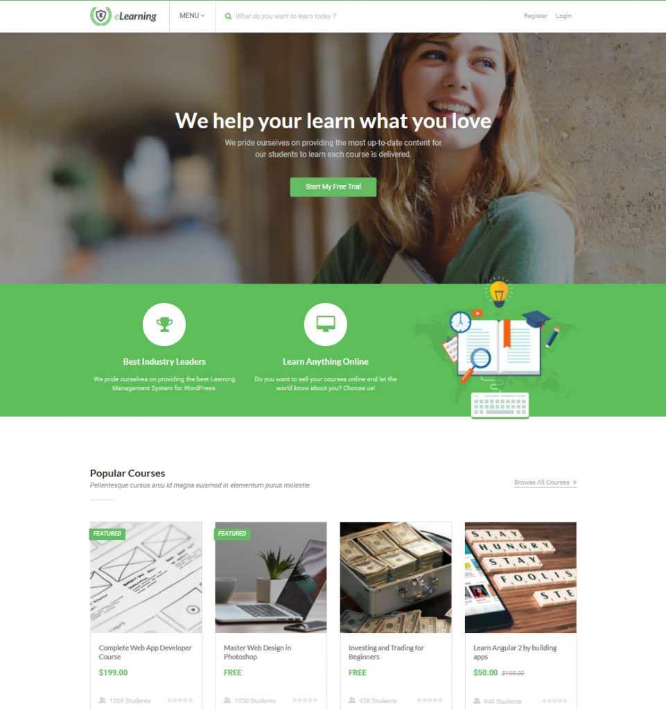 CreativeLearn – eLearning Education WordPress theme