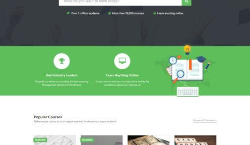 LearnBase – eLearning LMS Education WordPress theme