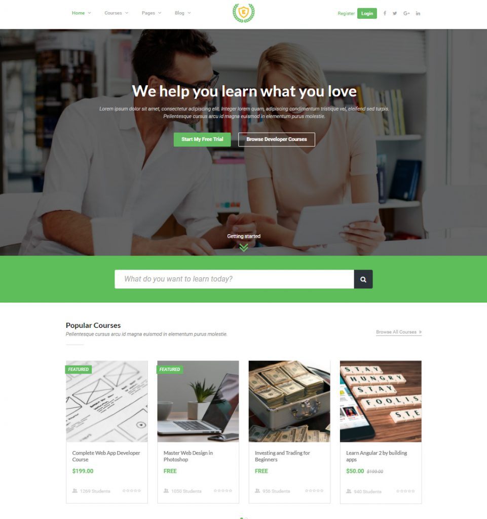 StudyCamp – eLearning LMS Education WordPress theme