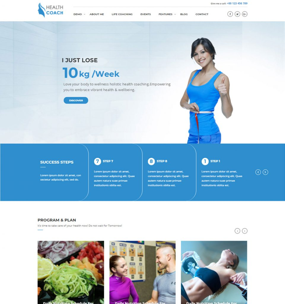 Healthy Diet – Healthy Coaching WordPress Theme