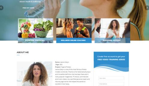 Healthy Key – Speaker and Life Coaching Exercise WordPress theme