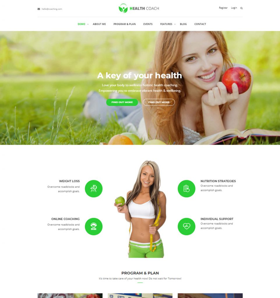 Health Coach – Life Health Coaching WordPress Theme