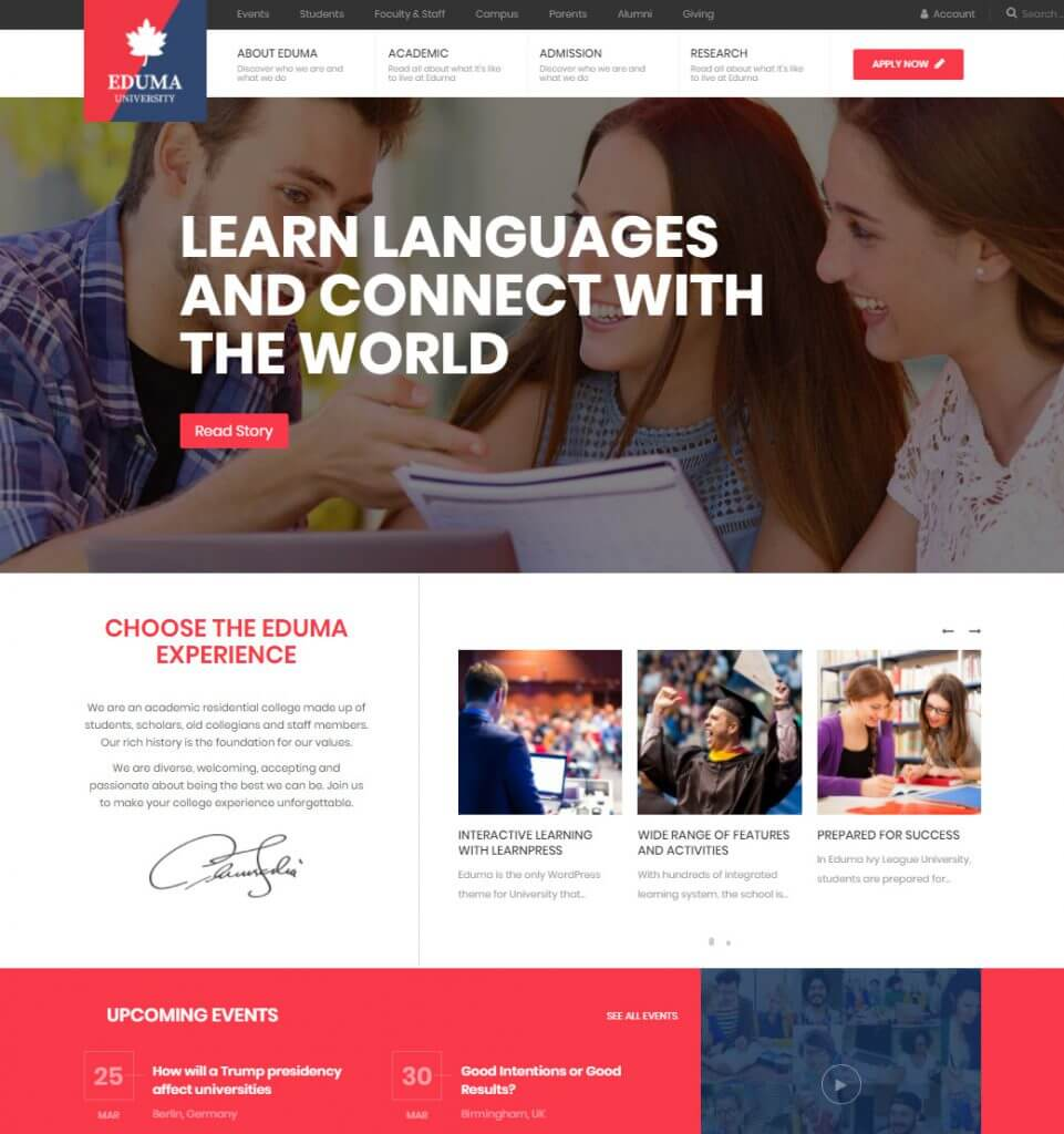 Ivy League – University Institute High School Elearning WordPress Theme