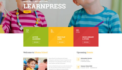 Kindergarten – Education Kids Elearning WordPress Theme
