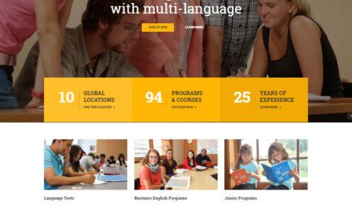 Language School – Education Elearning School WordPress Theme