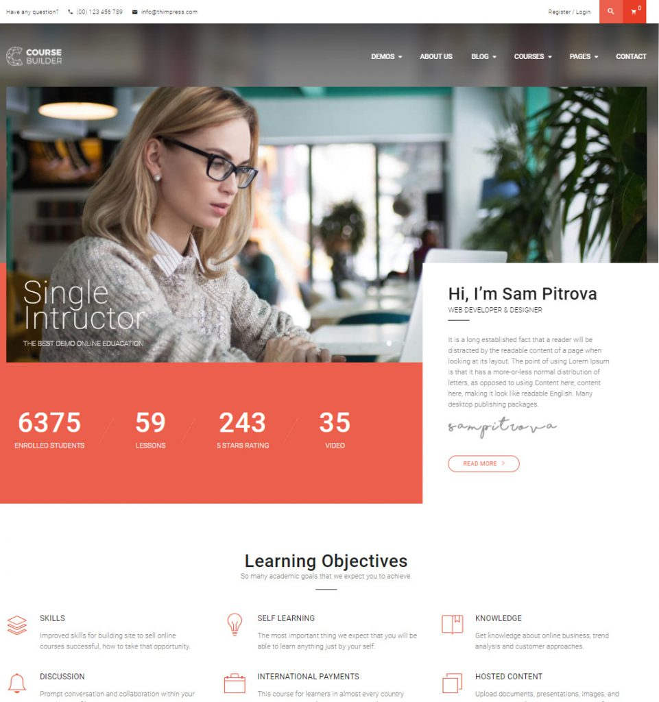 Single Tutor – WordPress Theme for Online Education & Teaching
