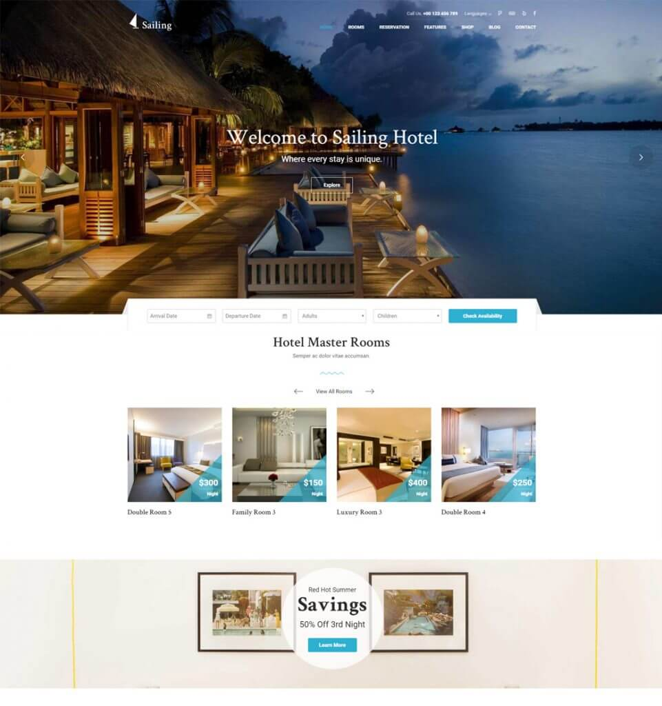 Resort WP  – Hotel Resort Booking WordPress Theme