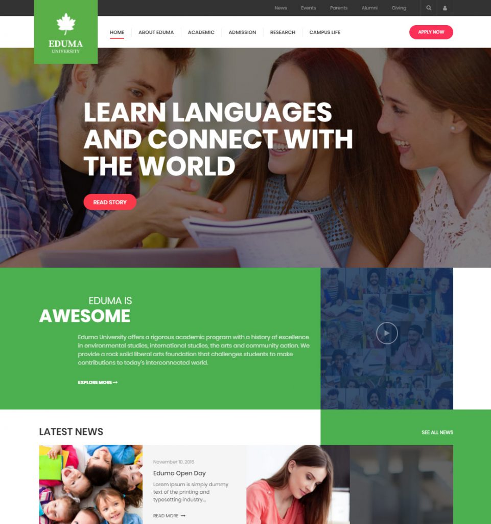 Stanford – Elearning College University WordPress Theme