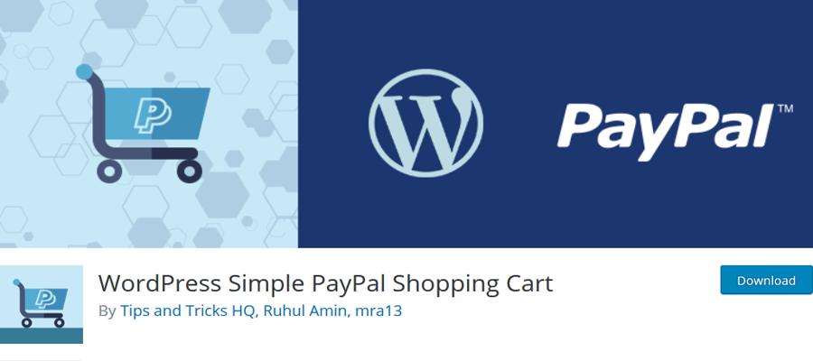 WordPress Simple Paypal shopping cart, Shopping Cart WordPress Plugins