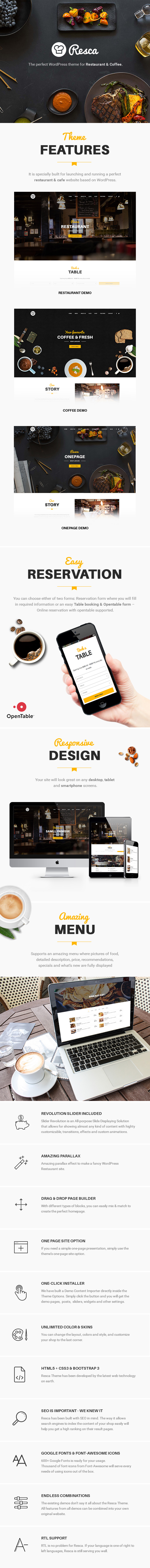Restaurant WordPress Theme - Resca Download