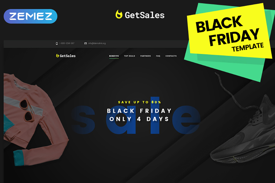 Clothes Landing Page HTML Template