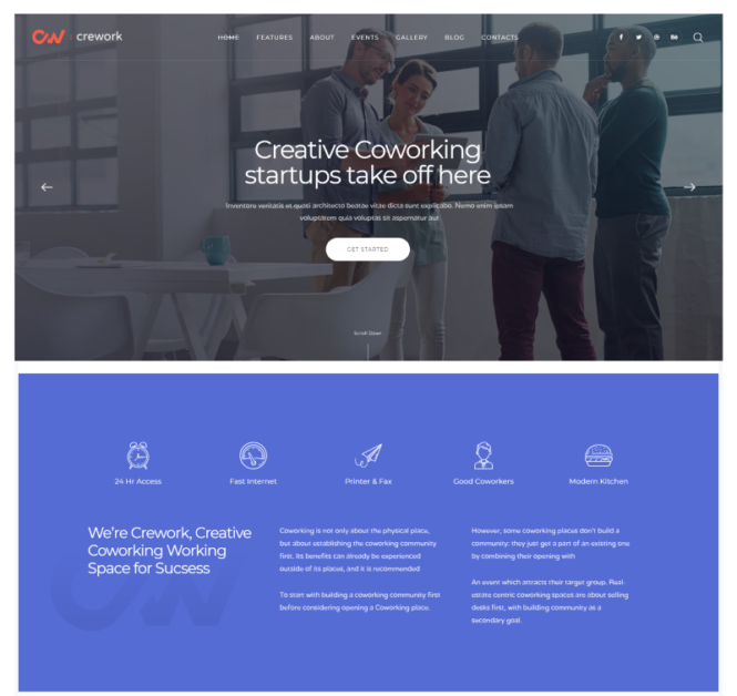 Crework WordPress theme
