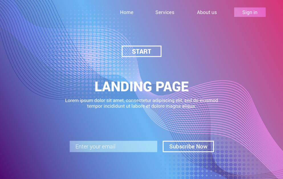 Use landing page to drive more people sign up for your online