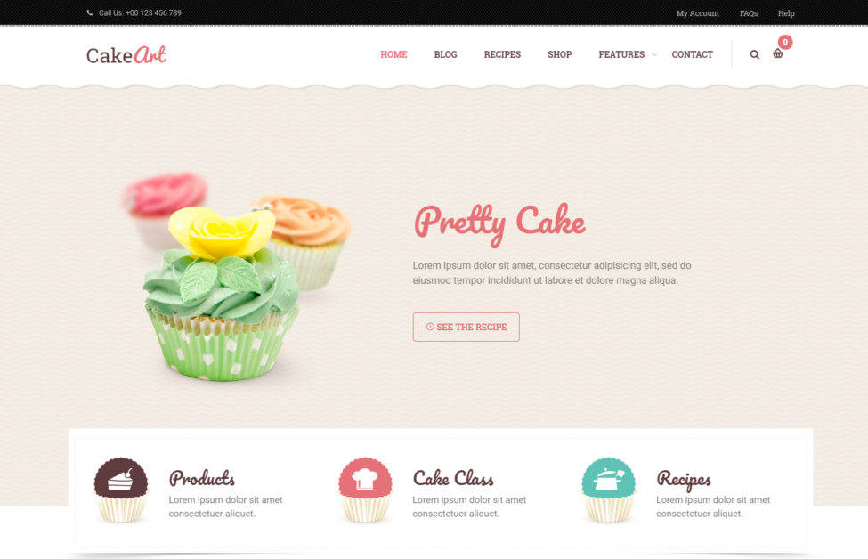 Cake Art WordPress Theme