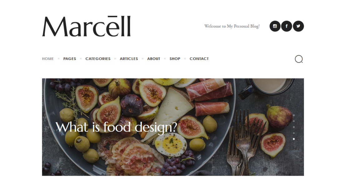 Marcell – Minimal Personal Blog & Magazine WordPress Theme