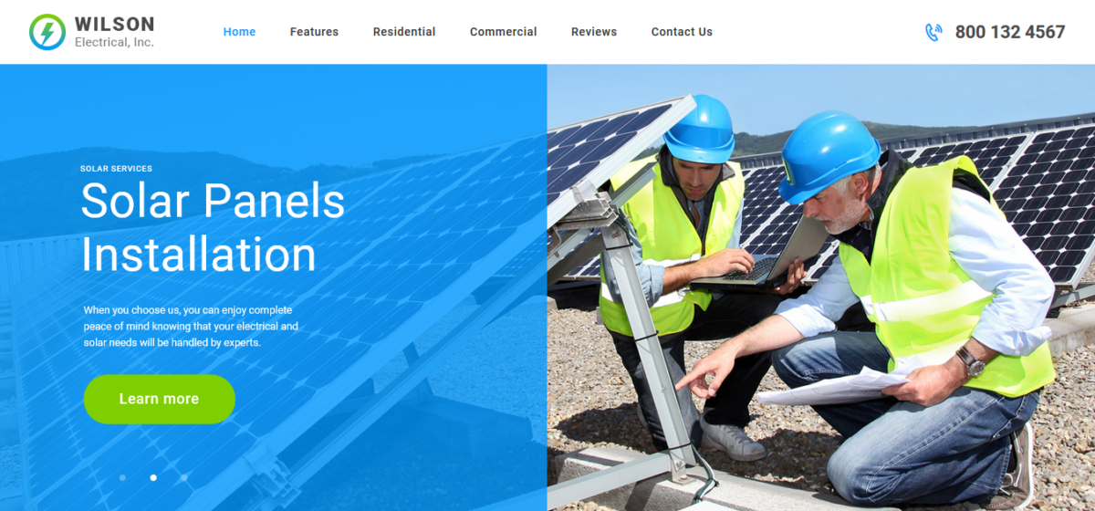 Wilson Electrical – Repair and Maintenance Services WordPress Theme