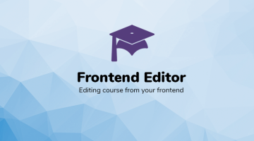 Frontend Editor add-on for LearnPress