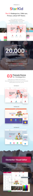 Kindergarten & Children Care WordPress Theme | StarKid - 1