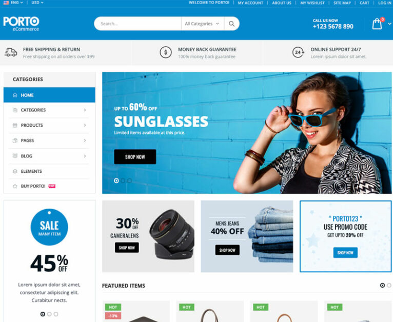 porto dropshipping wordpress theme