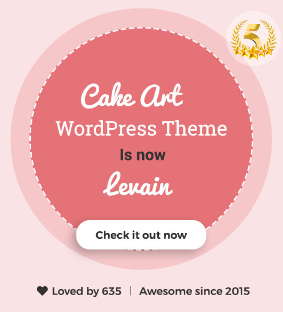 Levain | Cake WordPress Theme - 1