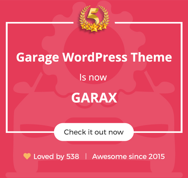 Garax | Automotive WordPress Theme - 1