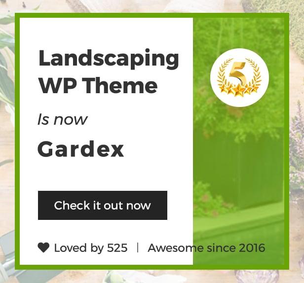 Gardex   Landscaping & Gardening WordPress Theme - 1
