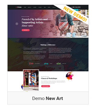 New Art - Education WordPress Theme
