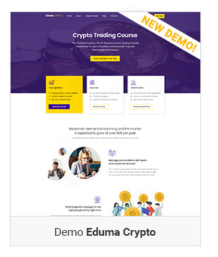 Crypto - Education WordPress Theme