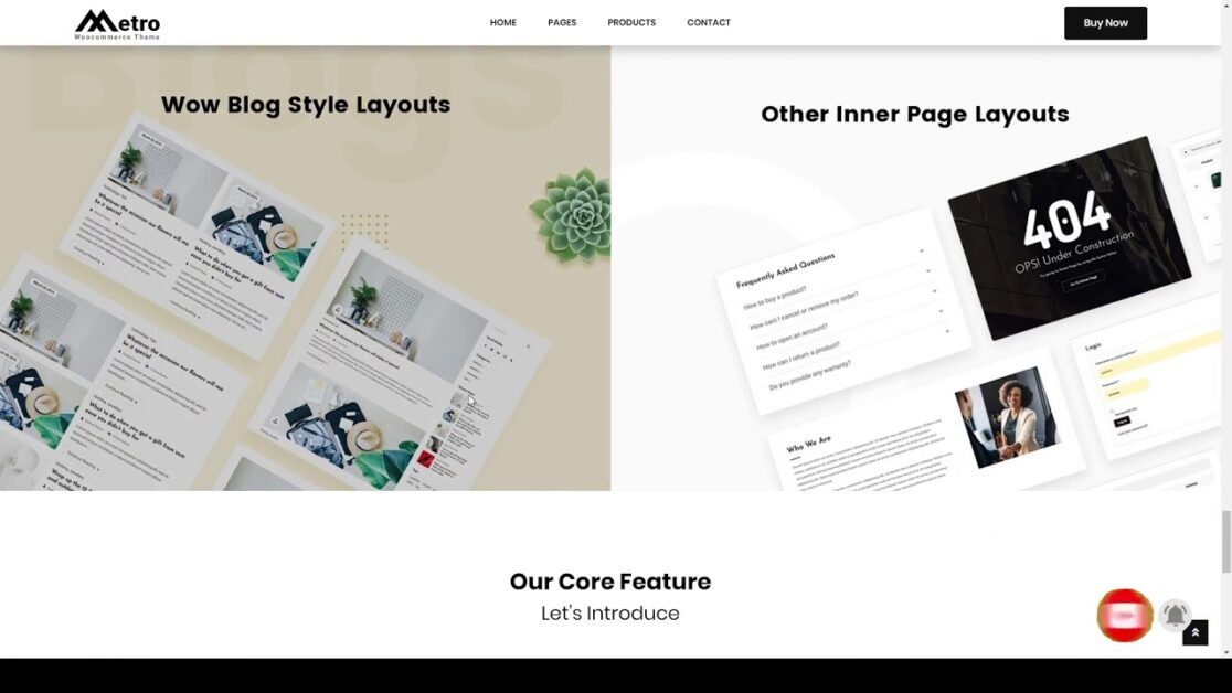 metro wordpress ecommerce theme
