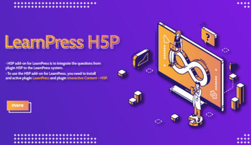 H5P add-on for LearnPress