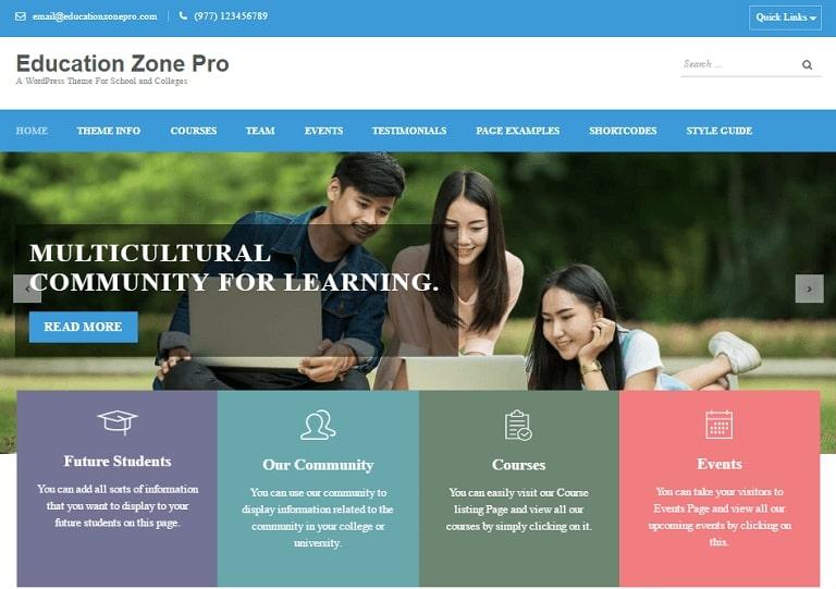 education-zone-pro-wordpress-theme