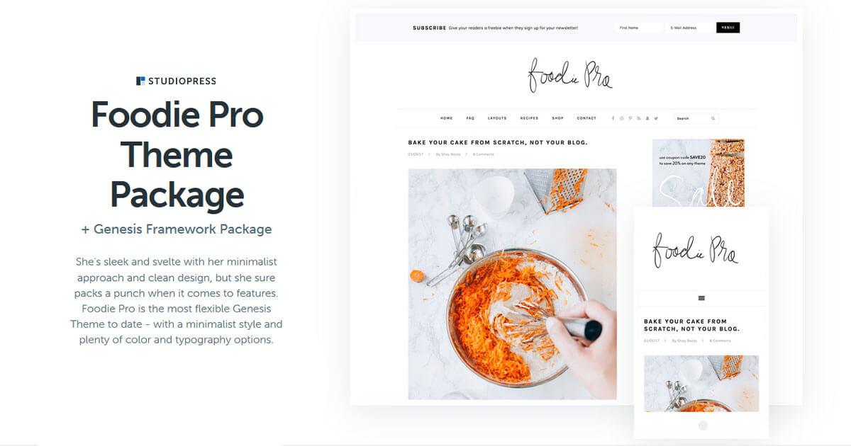 Foodie Pro WordPress Theme