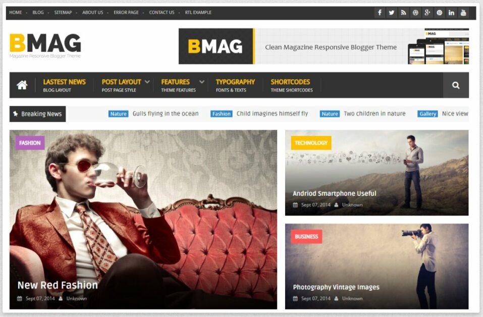 BMAG blog theme