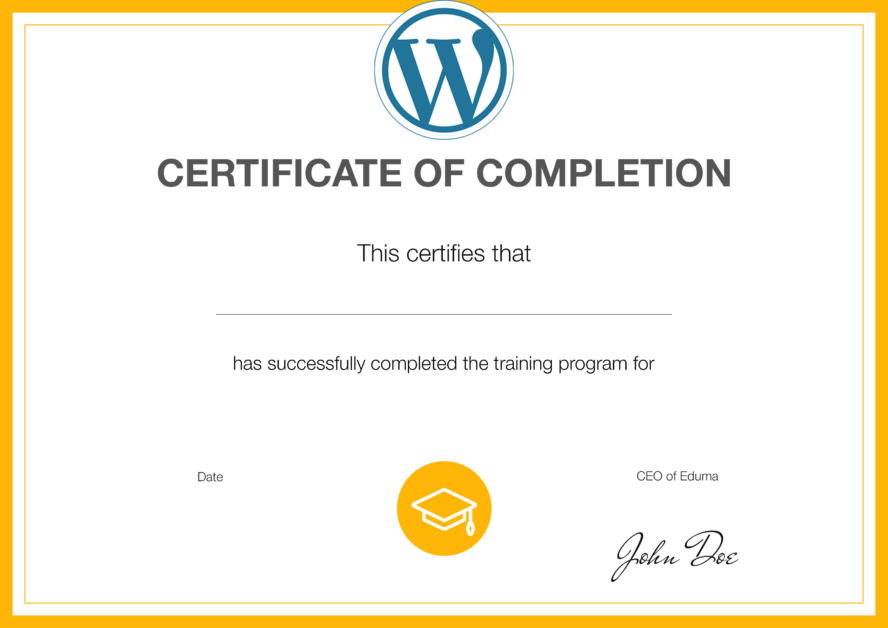 learnpress certificate