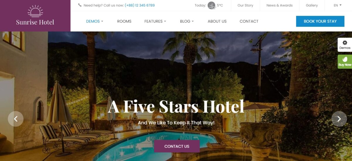 luxstay modern and elegant wordpress theme for hotel and travel